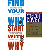 img - for Find your why, start with why and 7 habits of highly effective people 3 books collection set book / textbook / text book