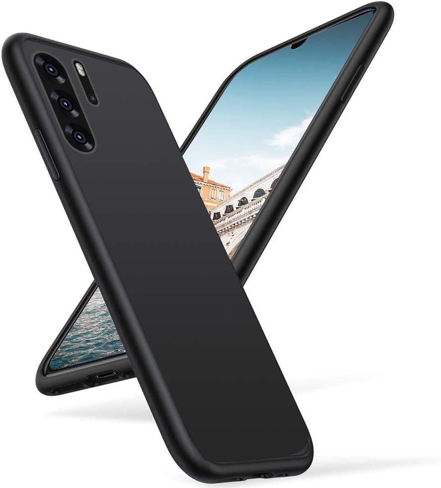 Black F/ür Huawei P30 H/ülle Handyh/ülle Schwarz Silikon Case Kompatibel mit Huawei P30 Schwarz Weich TPU Handyh/ülle Sto/ßd/ämpfend Anti-Fingerabdruck Anti-Scratch f/ür Huawei P30
