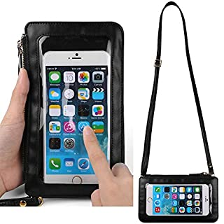 ECCRIS Crossbody Wallet Purse Pouch Shoulder Bag Fit for Samsung Galaxy S20 Plus, S20 Ultra, S20, Z Flip, Xcover Pro, Note 10 Lite, S10 Lite, A01, A71, Xcover FieldPro, A51, A70s, A20s, M30s, M10s