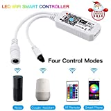 Konxie Smart Wi-Fi RGB/GRB LED Controller for 5050 3528 LED Strip Light, 24 Key Remote Control, Compatible with Alexa and Google Home Assistant