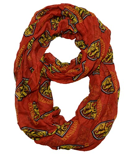Harry Potter Women's Gryffindor Viscose Scarf (OS, Cinnabar/Yellow)