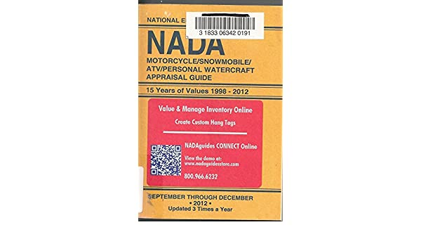 Nada Atv Values >> Amazon Com Nada National Edition Motorcycle Snowmobile