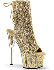 Pleaser Adore-1018G Sexy Exotic Dancer Clubwear Ankle/Mid Calf 7 Platform Boot.