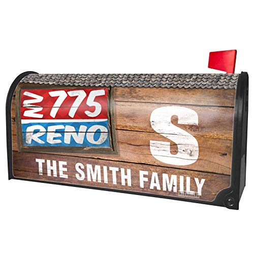 NEONBLOND Custom Mailbox Cover 775 Reno, NV red/Blue (Reno Design Outdoor Nv)