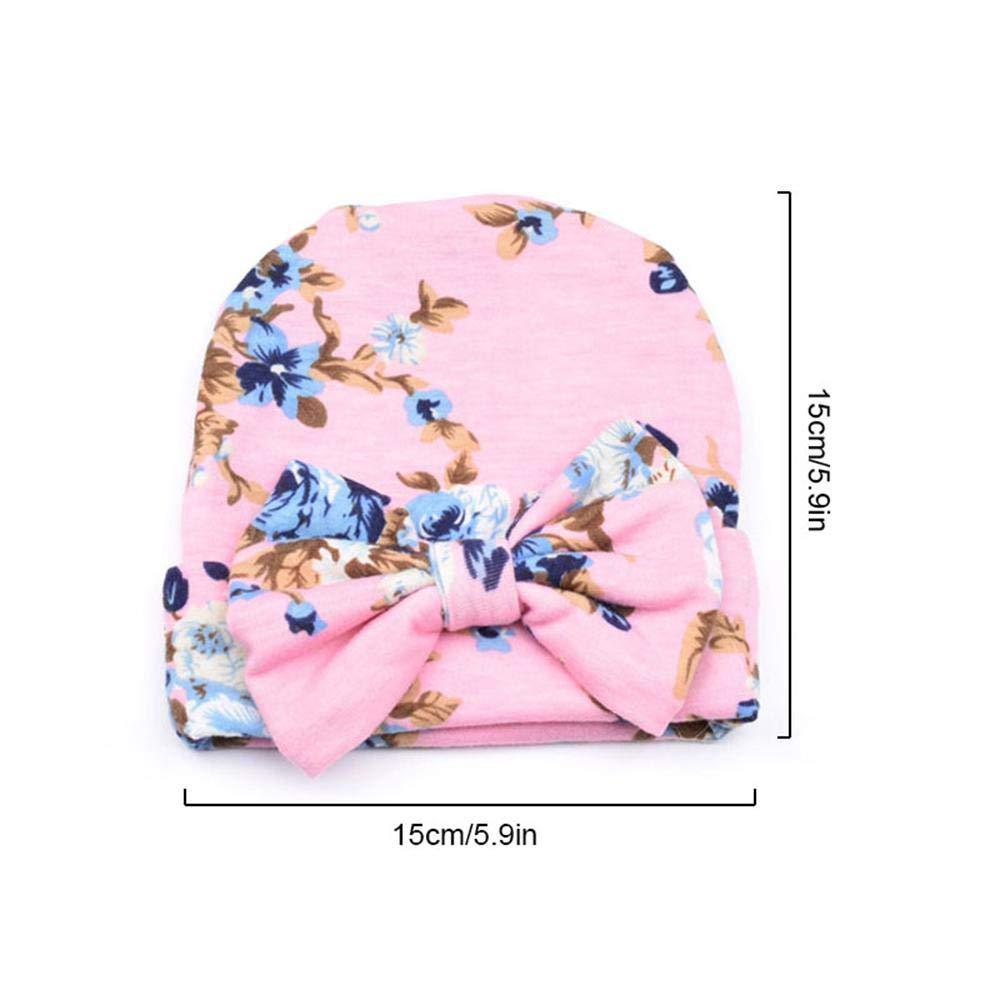 1 Pc Cute Floral Printing Cotton Soft Hat Kids Baby Boy Girl Warm Elastic Cap