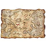 : Plastic Treasure Map Party Accessory (1 count) (1/Pkg)