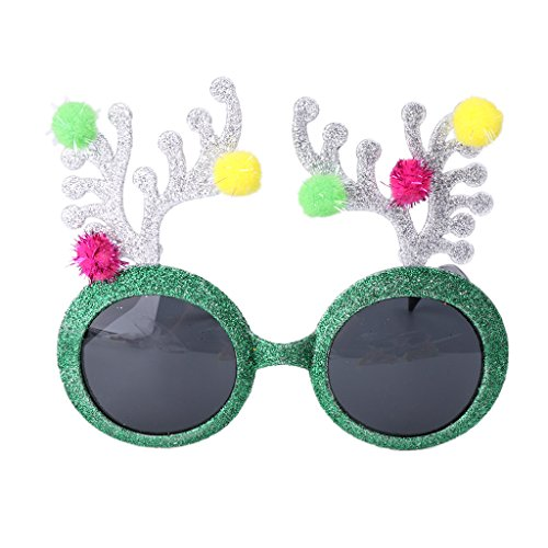 Hollywood Fancy Dress Party Costumes (Allrise Party Style Glasses Sunglasses, Fancy Dress Costume Hen Night Wedding Party Decor Gift(Green))