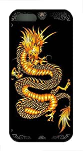 Brian114 iPhone 5S Case - China Dragon Oriental Style 9 Back Case Cover for iPhone 5 5S Soft Rubber Black Cases