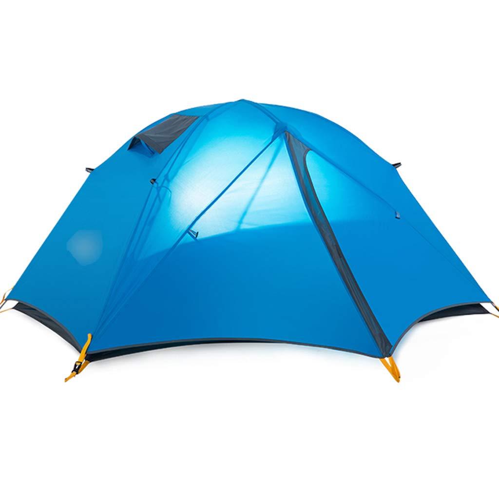 YaNanHome Zelt im Freien Doppeltes regendichtes Zelt 1-2 Leute kampierendes Zelt, Das Zelt wandert (Farbe : Blau, Größe : 200  130  100cm)