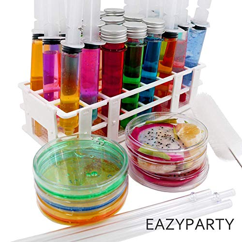 Eazy Party, DIY Science Party kit,jello shot syringes.FDA approved and 100%BPA free,Make Your Own milk tea ice cream jello shot syringes and More with Fun Chemical theme party! great for Drinking Game