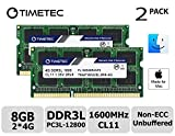 Timetec Hynix IC Apple 8GB Kit (2x4GB) DDR3L 1600MHz PC3L-12800 SODIMM Memory Upgrade For MacBook Pro 13-inch/15-inch Mid 2012, iMac 21.5-inch Late 2012/Early 2013 (Low Density 8GB Kit (2x4GB))