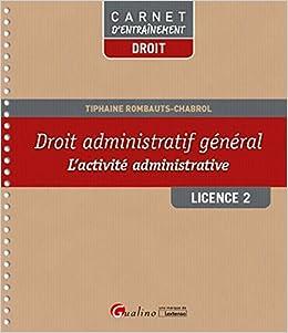 Droit administratif général - L'activité administrative - L2-S1
