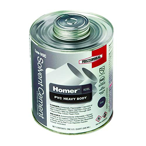 Rectorseal 55963 Quart 828L Heavy Body Grey Low Voc Pvc Solvent Cement