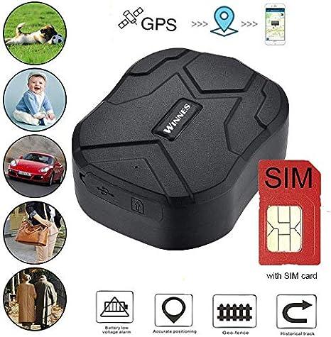 Rastreador GPS con Tarjeta SIM, Rastreador en Tiempo Real a Prueba de Agua Localizador GPS Coche de Alarma Anti-pérdida Profesional para camión de Autos Moto Congelador Barco (10000mah)