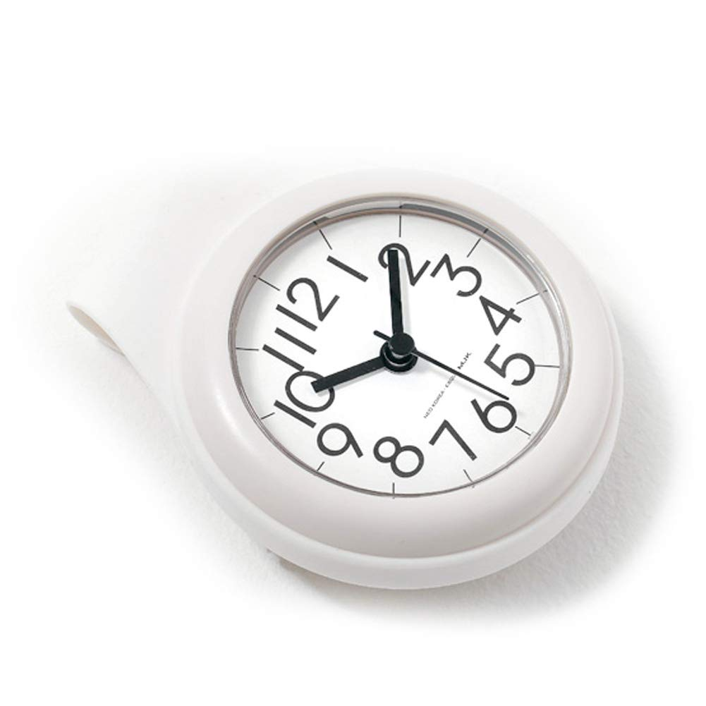 Neo Waterproof Bathroom Shower Clock Analog, 4 inch, Small, White by NEO Products