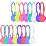 BBTO 16 Pieces Magnetic Twist Ties String Winder Cable Organizer Wrap for Earphone, Keychains Management, 8 Colors