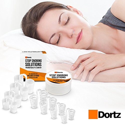 Anti-Snoring-Solutions-by-Dortz--Set-of-8-Stop-Snoring-Nose-Vents--Snoring-Solution-Anti-Snore-Device--Upgraded-Set-of-Nasal-Dilators-with-Travel-Case-Comfortable-Snore-Stop-Solution-for-Your