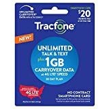 Wireless : New Tracfone $20 Unlimited Talk, Text, 1GB Data - 30 Day Smartphone Plan