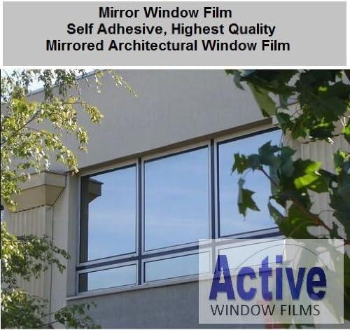Solar Control /& Privacy Tint - One Way Mirror // Mirrored Glass 76cm x 5 Metre Silver Reflective Window Film