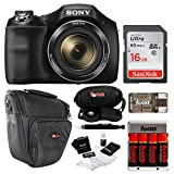 Cheap Sony DSC-H300 Digital Camera w/Rechargeable AA Batteries &16GB SDHC Acc Bundle