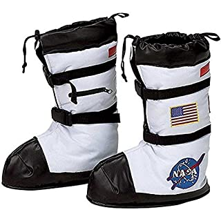 Jr. Astronaut Space Boots Child Costume Accessory - Medium White