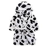Baby Boy Girl Plush Bathrobe Infant Hooded Robe