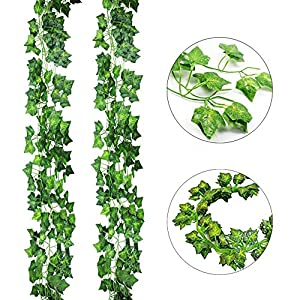 AGEOMET 24 PCS Fake Ivys Artificial Ivys Greenery Garlands Hanging for Wedding Party Garden Wall Decoration(79 inch Each) 3