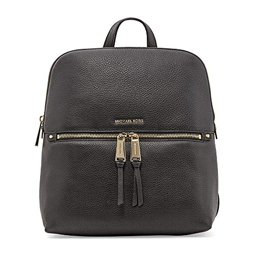 Michael Kors Rhea Medium Slim Leather Backpack (Womens Slim Black Leather)