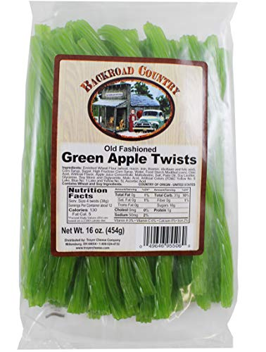 Backroad Country Old Fashioned Green Apple Twists One (1) 16 oz Bag