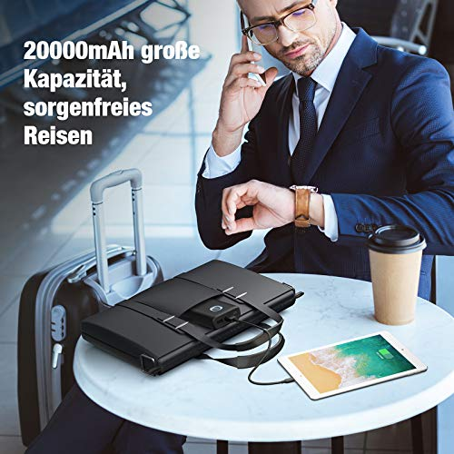 Powerbank POWERADD 20000mAh QC 18W, EnergyCell Power Bank Quick Charge 3.0 Extern Akku Portable Charger Tragbares Ladegerät für iPhone Samsung Huawei iPad Tablets Nintendo Switch und Mehr Smartphone