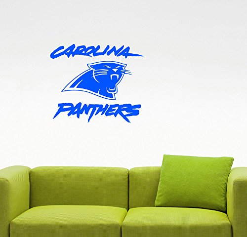 Carolina Panthers NFL Logo Wall Decal Extreme Sports Sign Vinyl Sticker Home Interior Decorations American Football Team Emblem Art Locker Room Bedroom Decor 1cp (26