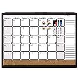 Best Dry Erase Calendars - Quartet Dry Erase Cork Calendar Board Combo Value Review