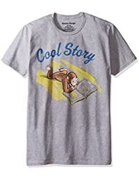 Curious George Men's Cool Story on a Short Sleeve Soft Graphic T-Shirt