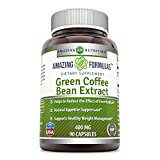 Amazing Formulas Green Coffee Bean Extract- Standardized to contain 45% Chlorogenic Acid- All Natural Weight Loss Aid – Appetite Suppressant – 400 mg 90 Capsule Review