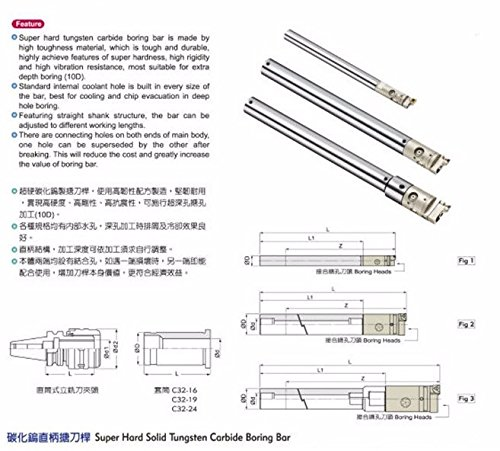 GOWE CBH fine boring superhard high speed solid carbide mate fine seismic extension rod ool holder boring bar
