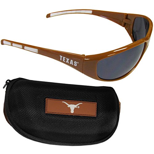 Texas Sunglasses Longhorns - Siskiyou NCAA Texas Longhorns Wrap Sunglasses & Zippered Case, Orange