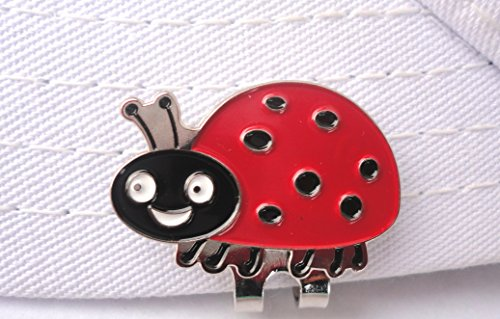 Lady Bug Golf Ball Marker and Magnetic Hat Clip ()