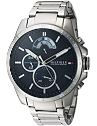 Tommy Hilfiger Mens COOL SPORT Quartz Stainless Steel Casual Watch, Color:Silver-Toned (Model: 1791348)