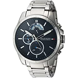 Tommy Hilfiger Men's 'COOL SPORT' Quartz Stainless Steel Casual Watch, Color:Silver-Toned (Model: 1791348)