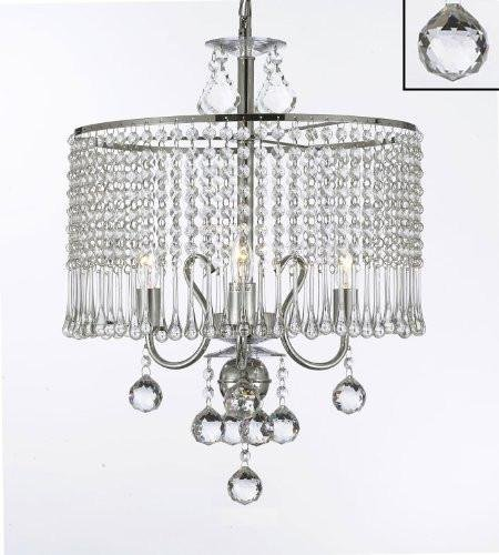 Amazon.com: Contemporáneo 3-Light Crystal Chandelier ...