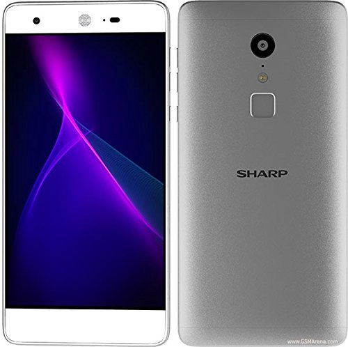 Sharp Z2 Smartphone (UNLOCKED), 4G LTE, SILVER, Dual SIM, 32GB 4GB RAM 5.5