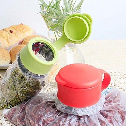 Copter shop Food Storage Snack Seal Bag Magic Cap bag cap Lid sealing device multifunctional food sealing cover. Color:Send Randomly - Gap Queen Bed Set