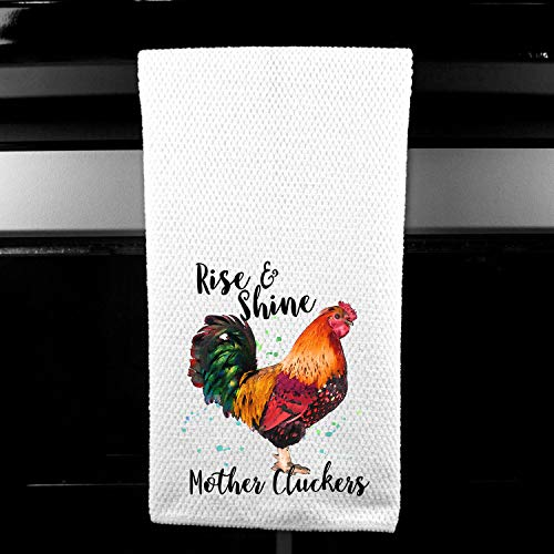 Rise and Shine Mother Clucker Rooster Chickens Gift for Friend Farm