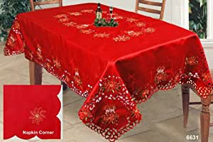 Amazon.com: Holiday Christmas Embroidered Poinsettia