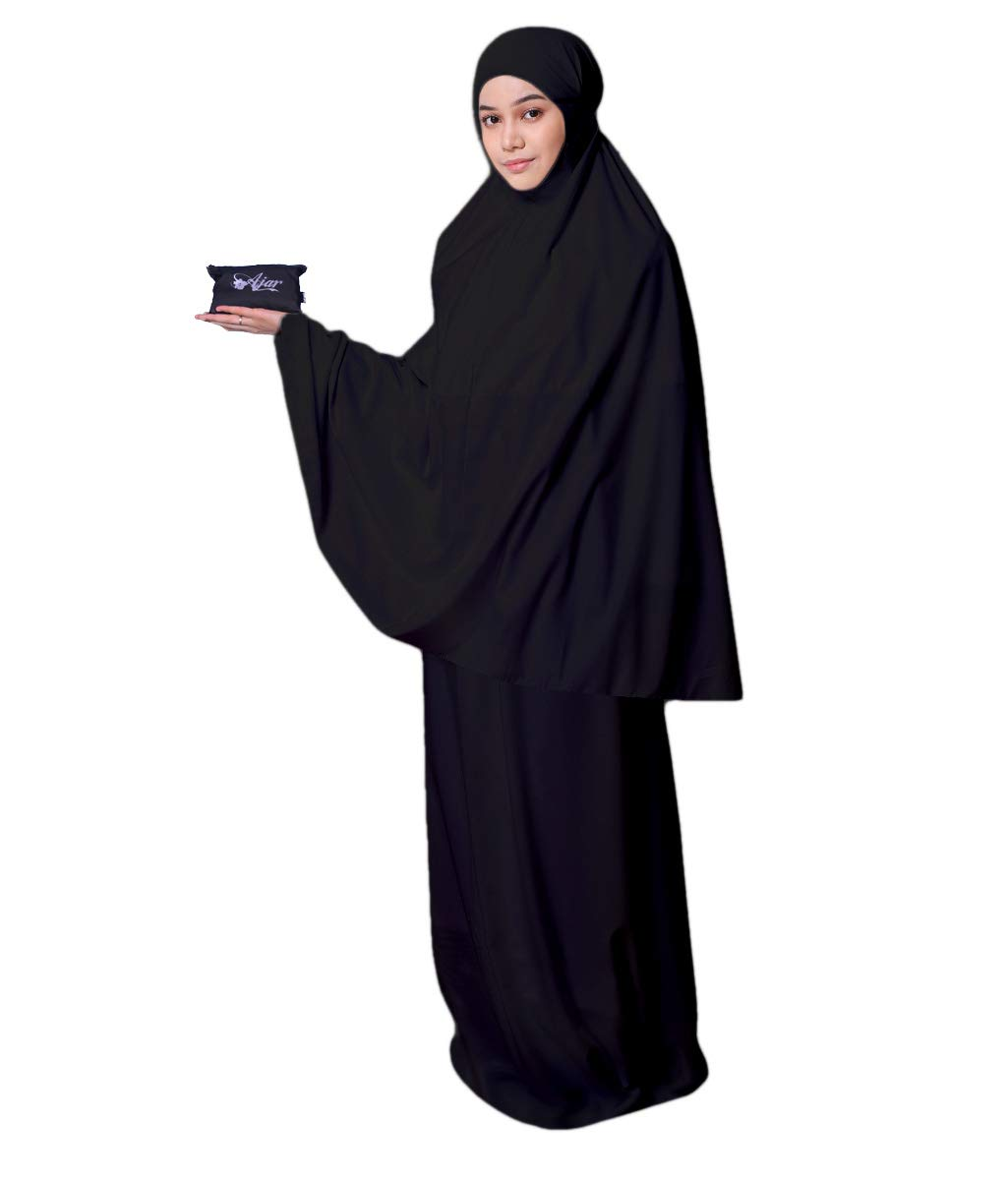 Muslim Women's Prayer Dress Pocket-Size Hijab Scarf Skirt Islamic Abaya by AJAR by Ajar (Image #1)