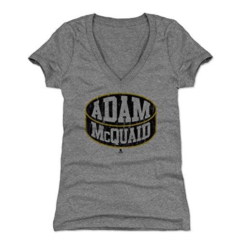 500 LEVEL Adam McQuaid Women's V-Neck Shirt Medium Tri Gray - Boston Hockey Fan Apparel - Adam McQuaid Boston Puck K