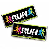 Personalized Set The Pace - Running - Custom Track, Cross Country Or Marathon Party Favors Candy Bar Wrapper - Set of 24