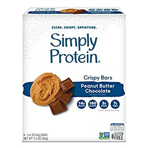 Well-Being-Matters 51EKgBUaY%2BL._SS300_ SimplyProtein Crispy Bars. Clean and Light Crispy Bars with Plant Based Protein (Peanut Butter Chocolate, 8 Pack).