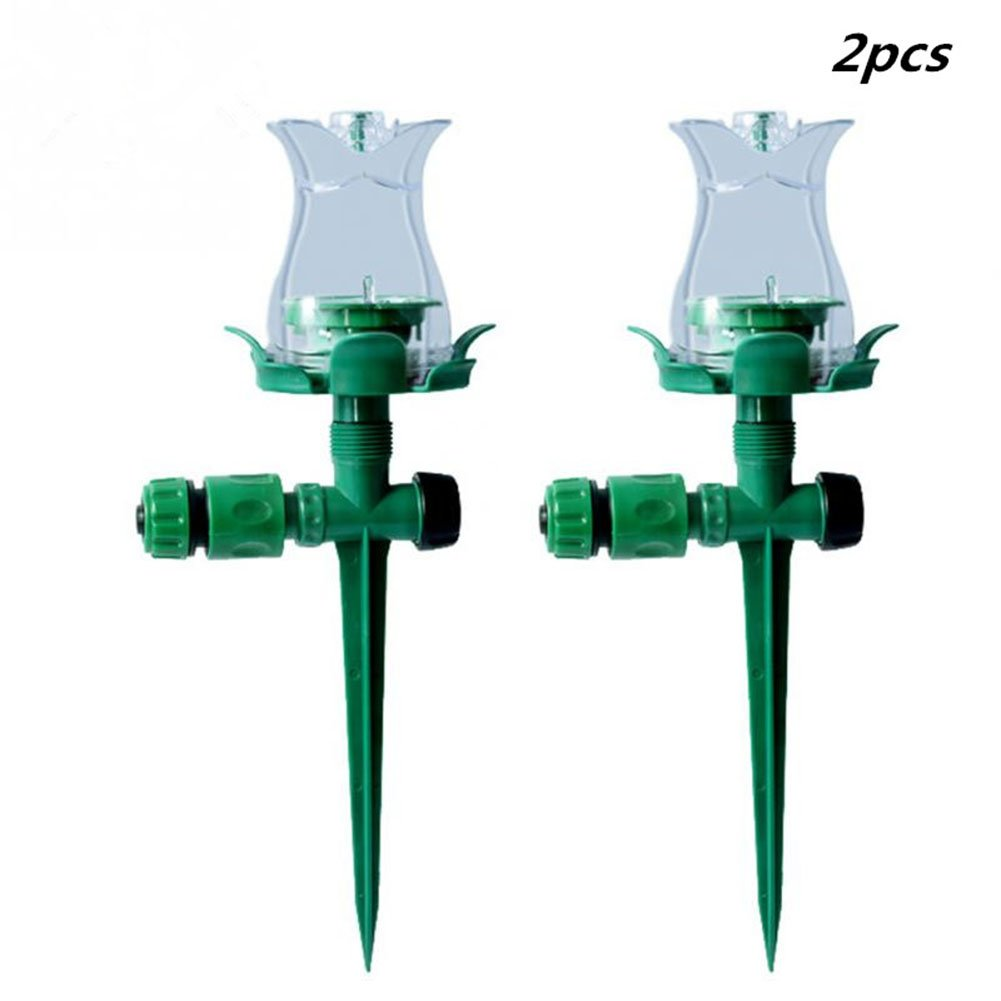 2PCS LED Colorful Luminous Lawn Spray Head Sprayer Light Decoration