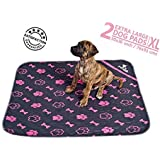 Pupwhiz: Pee Pads for Dogs Washable and Reusable Urine Incontinence XL Mats 30x36 | Perfect for Potty Training and Whelping in Playpen & Kennel Crate | Ideal for Water Bowl Placemat and Pet Feeding